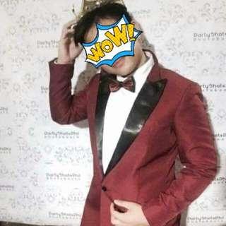 Maroon tuxedo for js prom