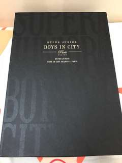 Super junior boys in city 4 巴黎寫真集絕版
