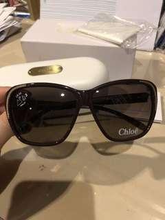 Chloe chain trim oversized glasses full set