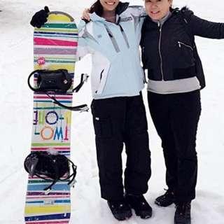 Ladies Light Blue Snow Ski Jacket and Pants Set