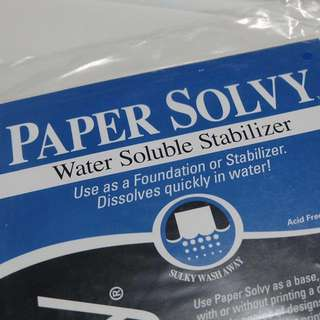 Sulky Paper Solvy Water Soluble Stabilizer