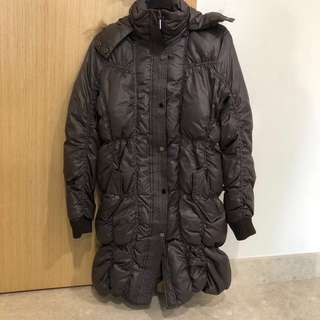 Winter down jacket-dark brown