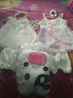 dress bayi & 1set bantal peang