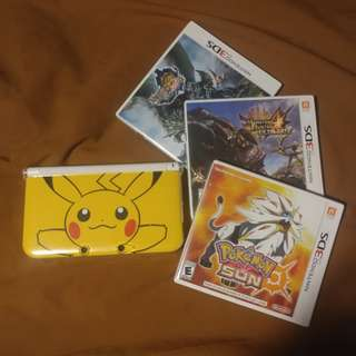 PRICE REDUCED! $200 Limited Edition Pikachu 3DS XL