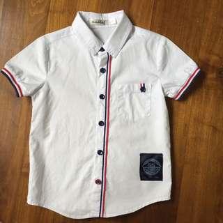 $3 White Collar Button Shirt boy smart