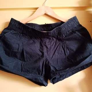 Garterized Black Shorts