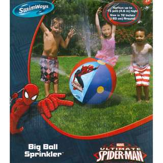 Swimways Marvel Ultimate Spider-Man Inflatable Large Sprinkle Beach Ball Float