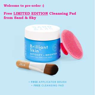 [FREE Limited Edition Cleansing Pad] Sand & Sky Australian Purifying Pink Clay Mask