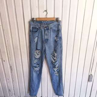 Jordache Mom Ripped Jeans
