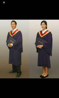Size M Achievers NYP Graduation Gown