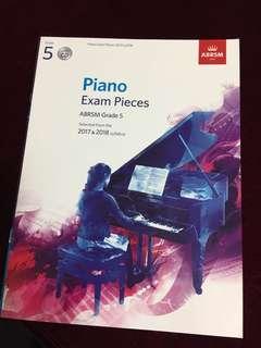 ABRSM G5 Piano Exam Pcs 2017&2018 (w/ CD)