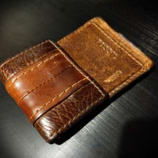 FOSSIL 真皮Card holder 銀包