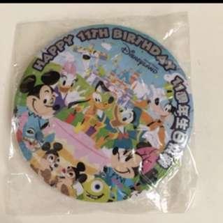 迪士尼11周年徽章