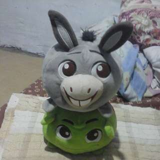 Donkey and Shrek from Shrek movie