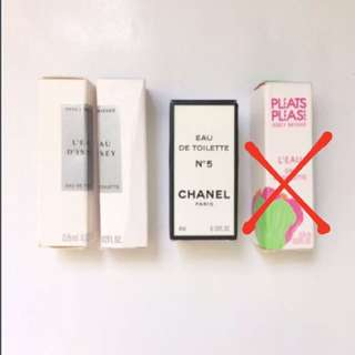Mini Perfumes (Issey Miyake, Chanel)