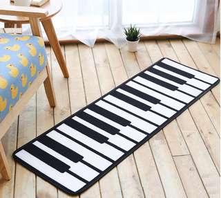 時尚 黑白簡約 鋼琴鍵 長條地墊 客應防滑墊 地毯 (有現貨) * 特別可放在鋼琴前作裝飾