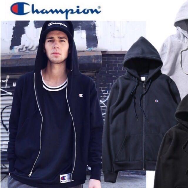 :1 Champion 深藍厚刷毛連帽外套