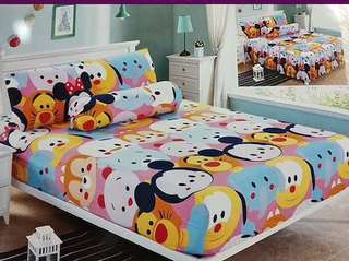 ⚡️bedsheet set with quilt cover ⚡️