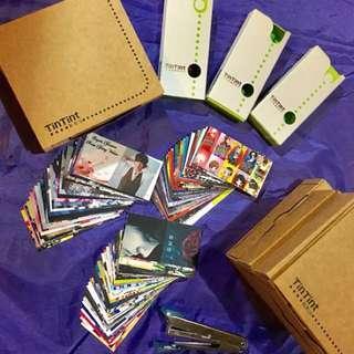 🚚 ❗大減價❗💕Super Junior SJ💕周邊出清人物書籤小卡 版面全為自己設計絕無重複 一組3盒 粉/綠
