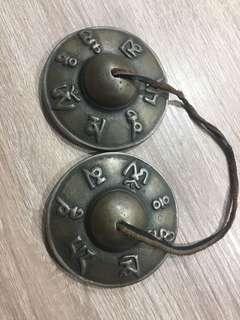 Tibetan tingsha (or Ting-Sha) (Tibetan: ཏིང་ཤགས་,