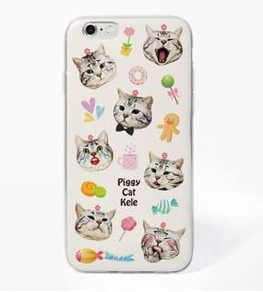 (代購正版貨品) Apple iphone 6//6s、6/6s plus 萌樣貓咪 磨砂包邊軟殼 手機殼 * 有現貨