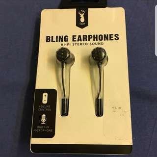 Bling earphones typo