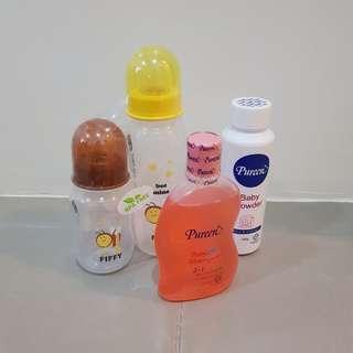 Pureen bath & bottles