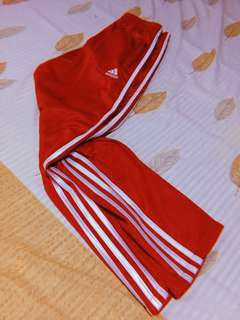 Adidas red trackpants