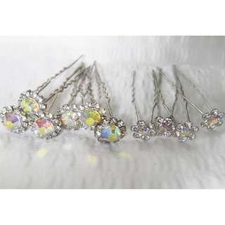 Bridal Rhinestone Hair Pins