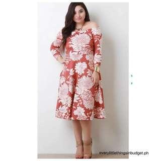 Floral Off Shoulder PLUS SIZE Dress