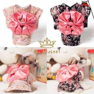 寵物可愛日式春夏和服浴衣 ( 黑M*1 )