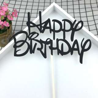 Happy Birthday Cake Topper Bunting Party Decoration