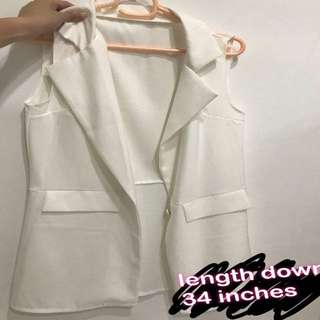 white vest outerwear