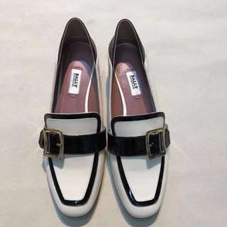 Bally pumps bicolor black white loafers 鞋