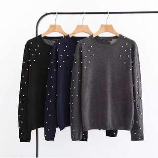 🔥New Style Slim Long Sleeve Stretch Bottom Sweater