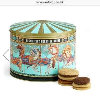 fortnum & mason merry go around musical biscuit tin 旋轉木馬 音樂盒 餅乾