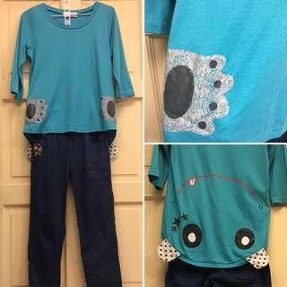🚚 Dailo七分袖上衣#靛藍色#