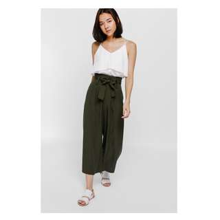 Want to Trade Cagisa Sash Pleat Flare Culottes XS for S