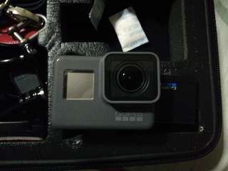 GoPro Hero 5 Black with case and other accessories