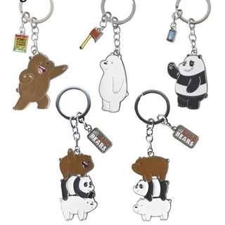 PO we bare bear keychain
