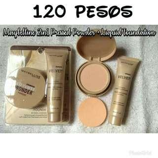 2in1 face powder & liquid foundation