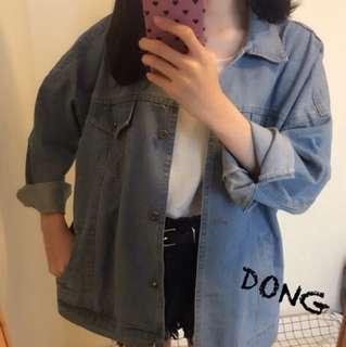 Dong.shop淺色牛仔外套