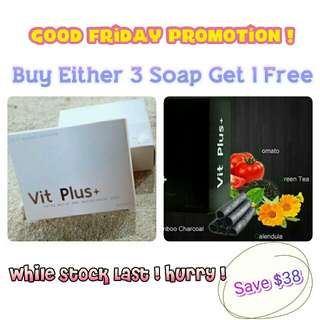 Good Friday Promotion Vit Plus+ Facial Soap (Natural Soap)