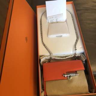 Hermes Verrou Chain Orange Poppy