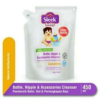 Sleek Bottle, Nipple Accesoris Cleanser 450 ml