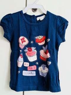 Pumpkin Patch navy cupcakes t-shirt size 12-18m