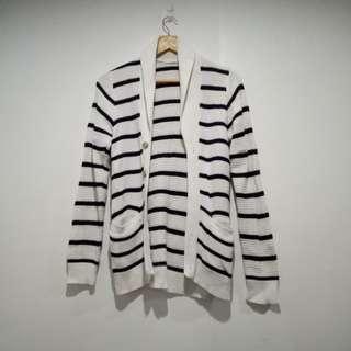 Knit long cadigan
