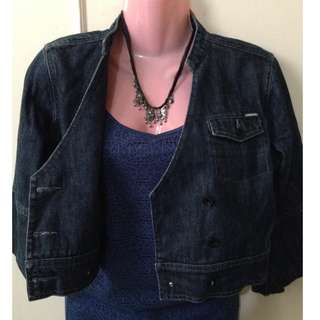 SALE! JAG BLACK DENIM Cardigan / Coat / Jacket + Tank top