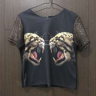 Tiger sparkle top