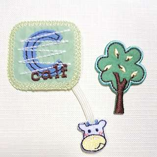 Iron On Patch/ Applique ↪ Little Cow & Green Tree 🐄🐄 💱 $3.90 Each Set - 2 Pieces